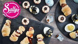 3 Halloween Snack Ideen – Spinneneier, Mumien, Gruselaugen