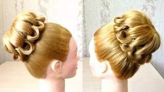 Пучок из волос на средние волосы Плетение волос Видео урок 4 Easy messy hair bun(Канал с прическами http://www.youtube.com/user/LiliaLady777 Предлагаю вам коллекцию оригинальных и красивых причесок.В этом..., 2015-04-06T12:35:09.000Z)