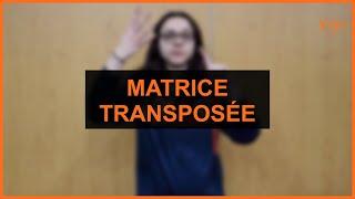 Mathématiques - Matrice transposée