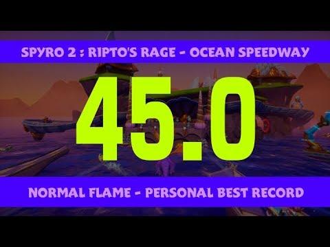 Spyro 2 RT - Ocean Speedway 45.0 (Normal Flame)