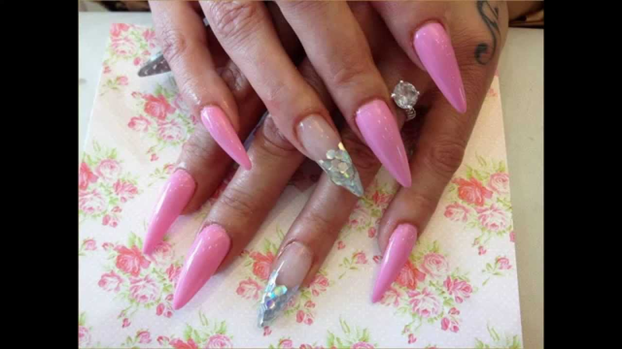 make cute acrylic nail designs for prom and christmas - youtube