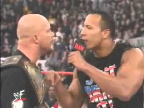 WWE Stone Cold Steve Austin & The Rock Sing on Raw 2001