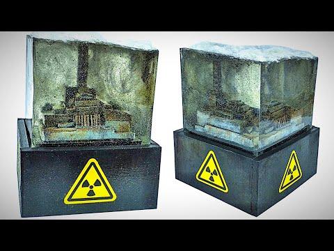 Диорама Чернобыльской Атомной Электростанции в эпоксидной смоле