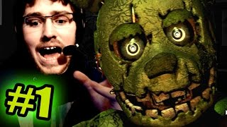 SCARIEST GAME YET!!?? - FNAF 3 - Part 1 (Five Nights At Freddy