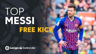 TOP Goles de Falta de Lionel Messi LaLiga Santander 2018/2019