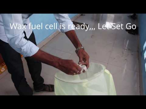 Diy easy sky lantern fuel cell with wax