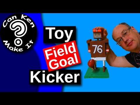 Make a Wooden Placekicker Toy for the NFL Kickoff