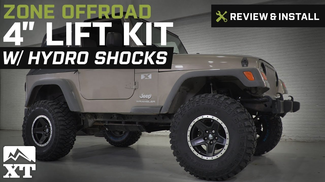 Jeep Wrangler Lift Kits >> Jeep Wrangler Zone Offroad 4 Lift Kit W Hydro Shocks 2003 2006 Tj Review Install