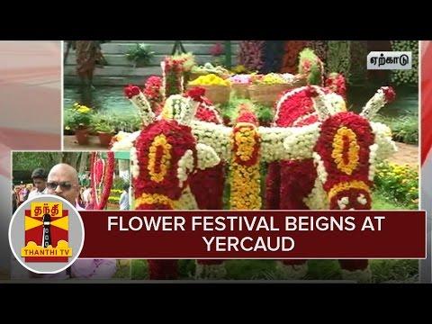 Flower Festival begins at Yercaud | Thanthi Tv