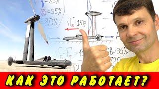 🌑  Ветромобиль с вечным двигателем или почему Blackbird едет по ветру и быстрее ветра Игорь Белецкий