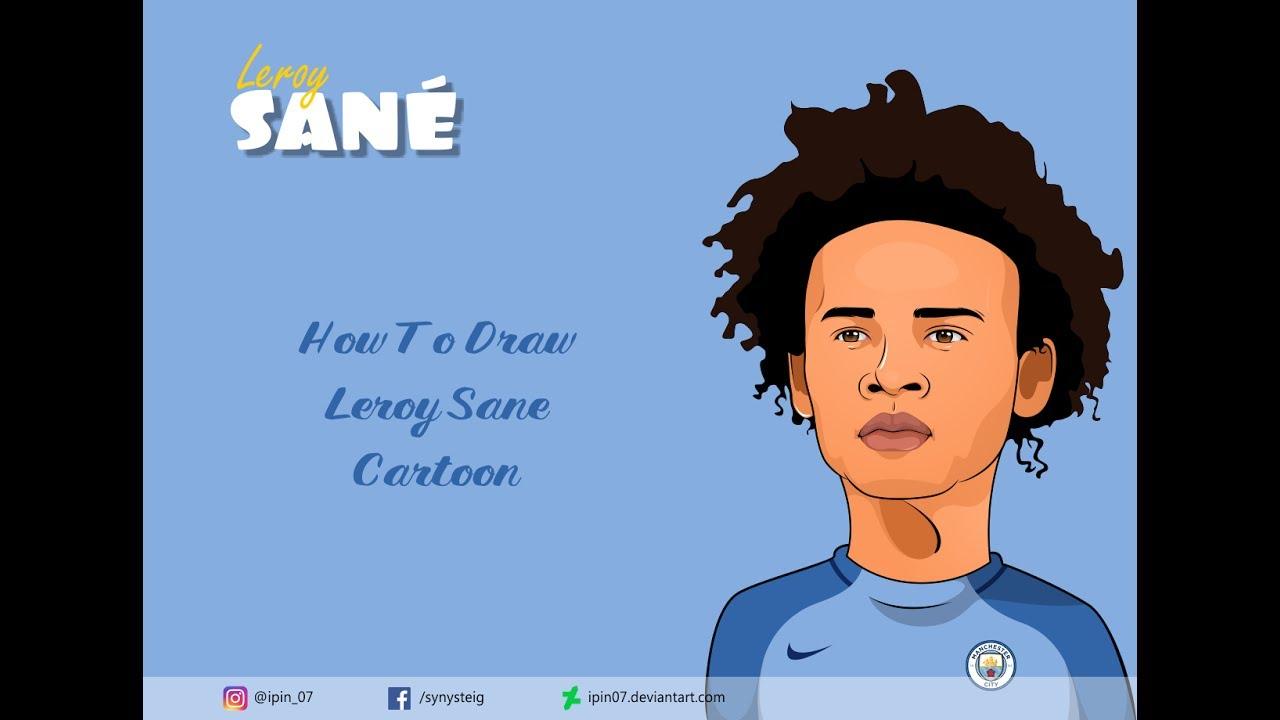 How to draw Leroy Sane Cartoon pt 1
