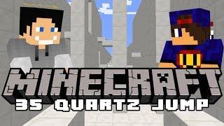 ♂️ Hoł Hoł Hoł Fail ♂️ Minecraft Parkour: 35 Quartz Jump [1/2] w/ GamerSpace