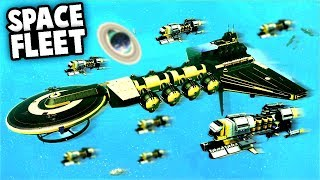 Amazing SPACE BATTLE! Encountering a massive SPACE FLEET! (No Man