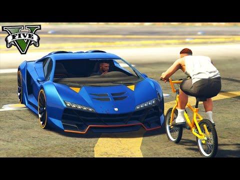 GTA V Online: BMX vs SUPER CARROS - MAIS de 10 KILLS!!!