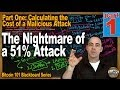 Bitcoin 101 - The Nightmare of a 51% Attack - Part 1 - Calculating the Costs