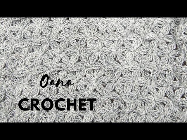 Jasmin stitch pattern step by step by Oana