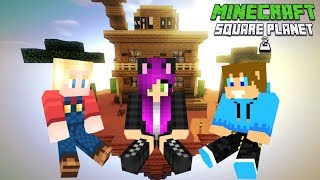 Minecraft SQUARE PLANET SURVIVAL 2 - Wyprawa do Saloonu pełnego Wiedźm! ✨