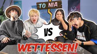 Das XXL Pärchen WETTESSEN..! - mit Hazel & Dirk