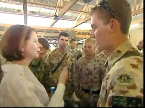 Australian new female prime minister visits Afghanistan