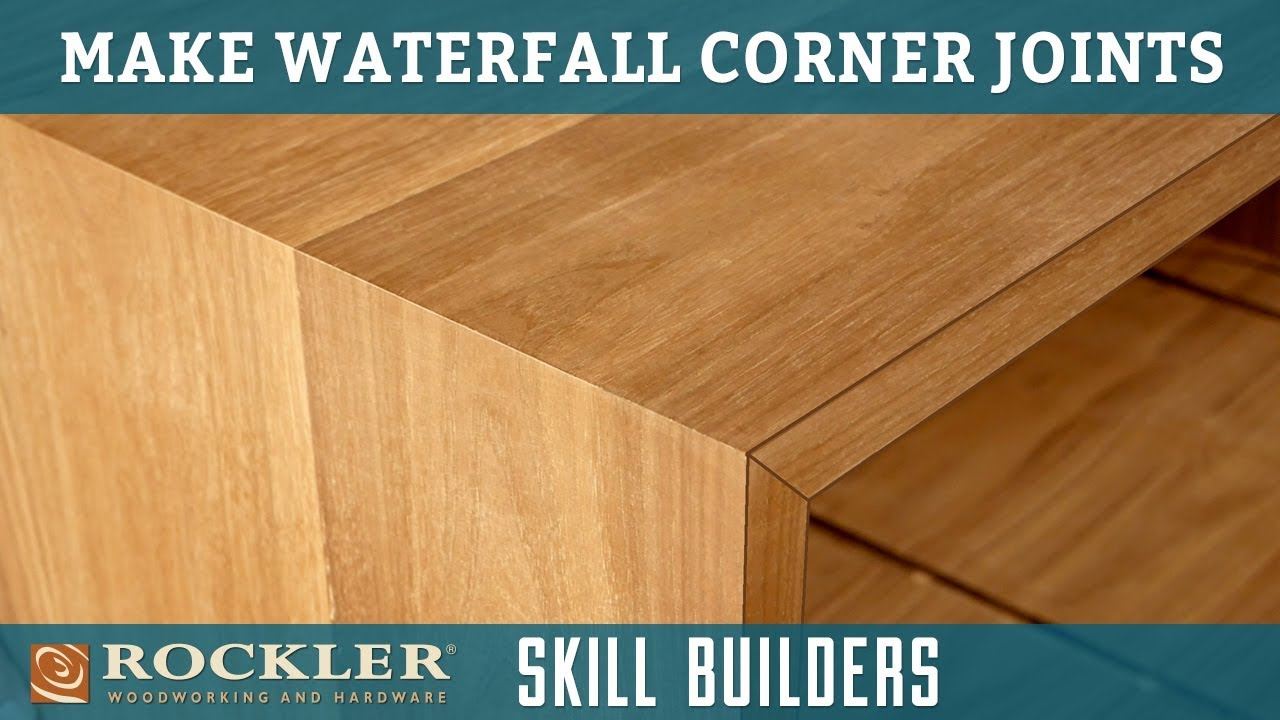 How To Make Waterfall Corner Joints Rockler Skill Builders