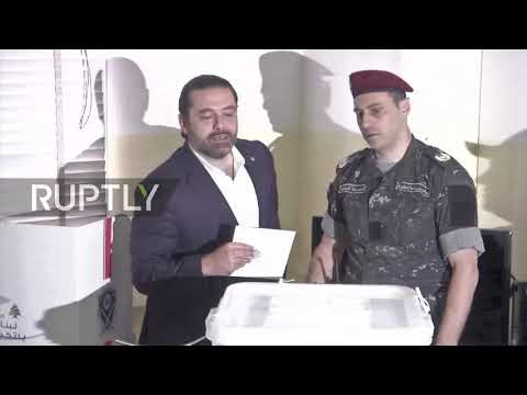 Lebanon: Hariri casts his vote in parliamentary election