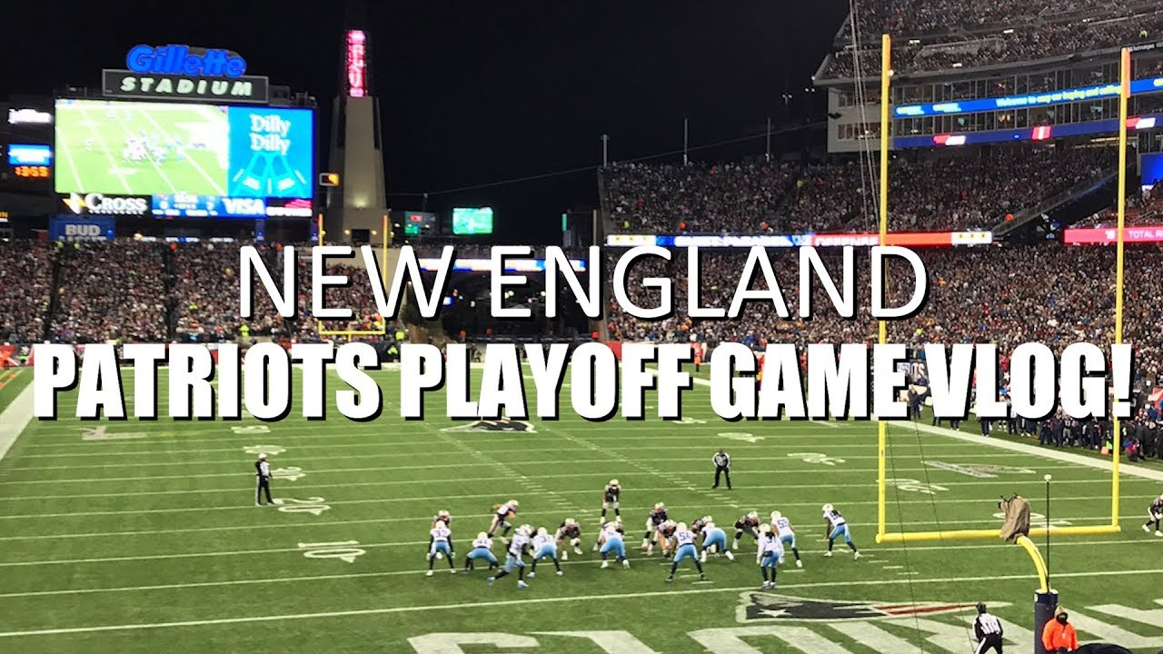 New England Patriots Playoff Game VLOG
