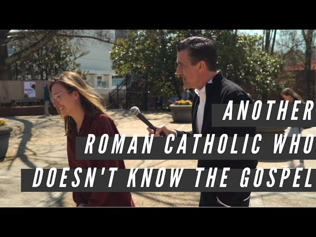 Another Roman Catholic who doesn't know the Gospel