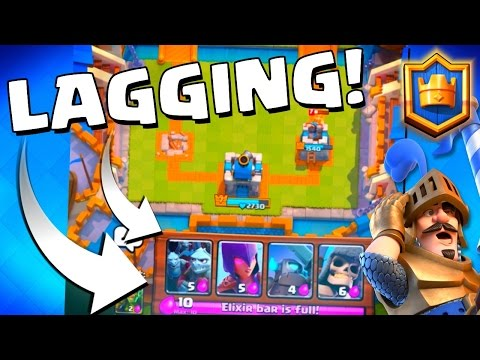 """Clash Royale """"LAG? CANT DEPLOY CARD!"""" Crown Chest in 1 Episode Challenge!"""