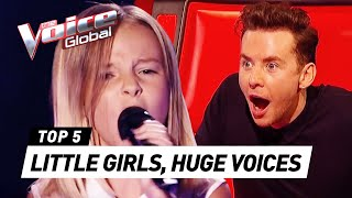 You won't believe the HUGE VOICES on these little girls on The Voice Kids
