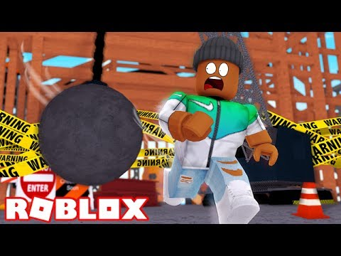 SURVIVE A GIANT WRECKING BALL IN ROBLOX