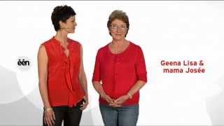 Geena Lisa en moeder Josée omroepster op moederdag 13 mei 2012