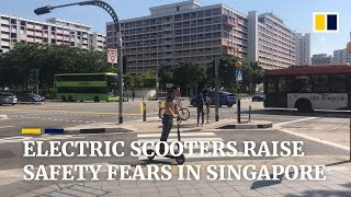 Electric scooters are causing safety concerns in Singapore