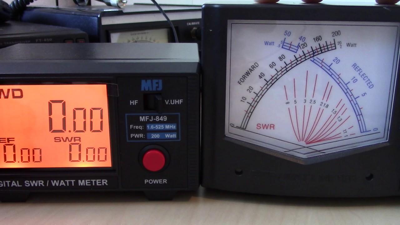 Digital Swr Power Meter : Digital swr power meter mfj comparison review vswr