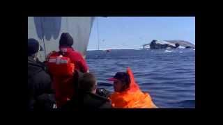 ВИДЕО С ТЕЛЕФОНА-2.mp4(Видео крушения затонувшего 26 мая 2012 года сахалинского траулера