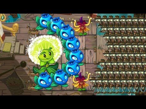 Plants vs Zombies 2 - Witch Hazel vs Dandelion vs Electric Blueberry