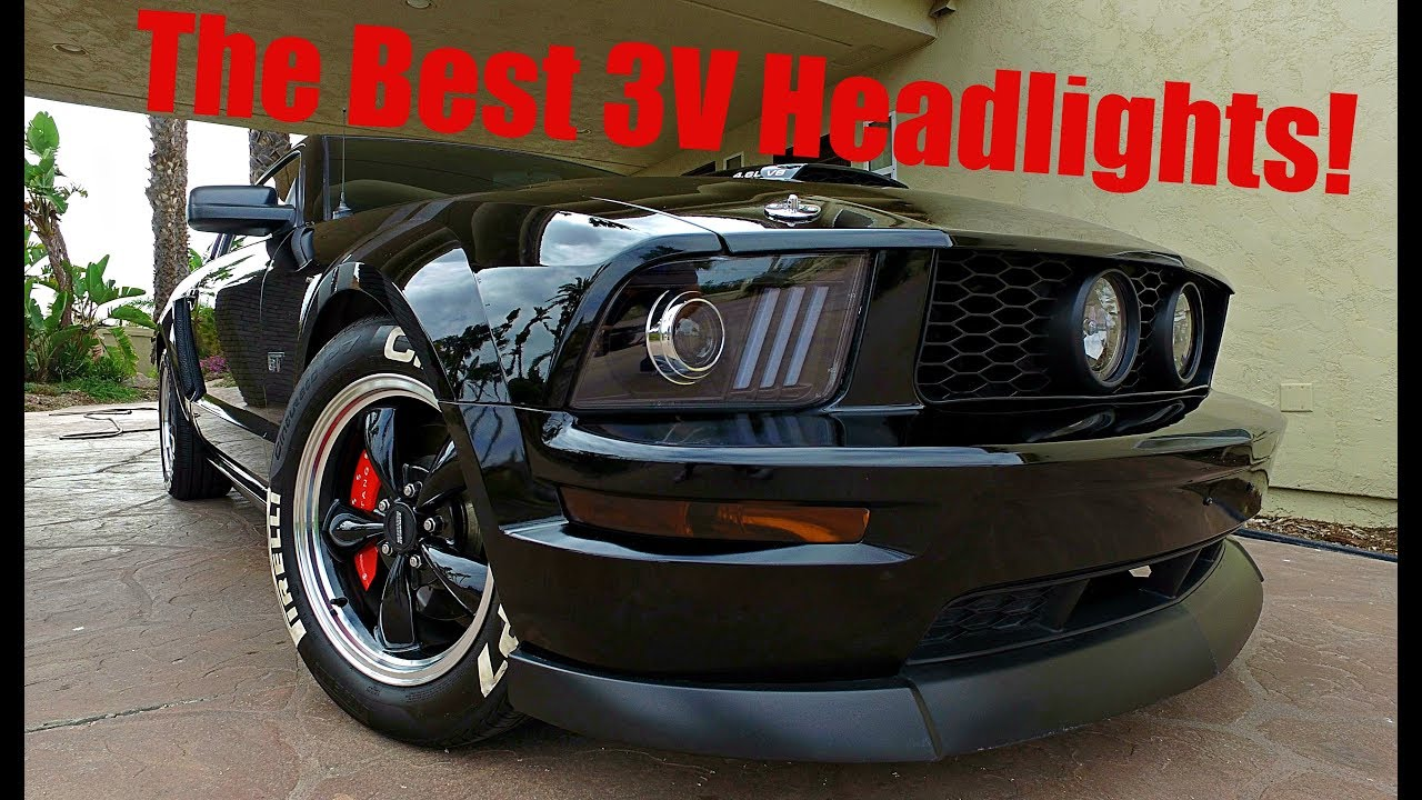 2017 Mustang Gt Premium >> Raxiom DRL Projector Headlight Review, Unboxing, and Installation (05-09 Mustangs) - YouTube