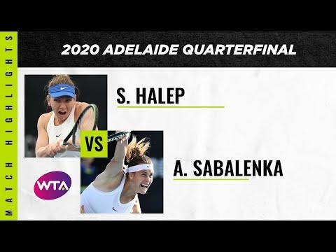 Simona Halep Vs. Aryna Sabalenka   2020 Adelaide International Quarterfinal   WTA Highlights