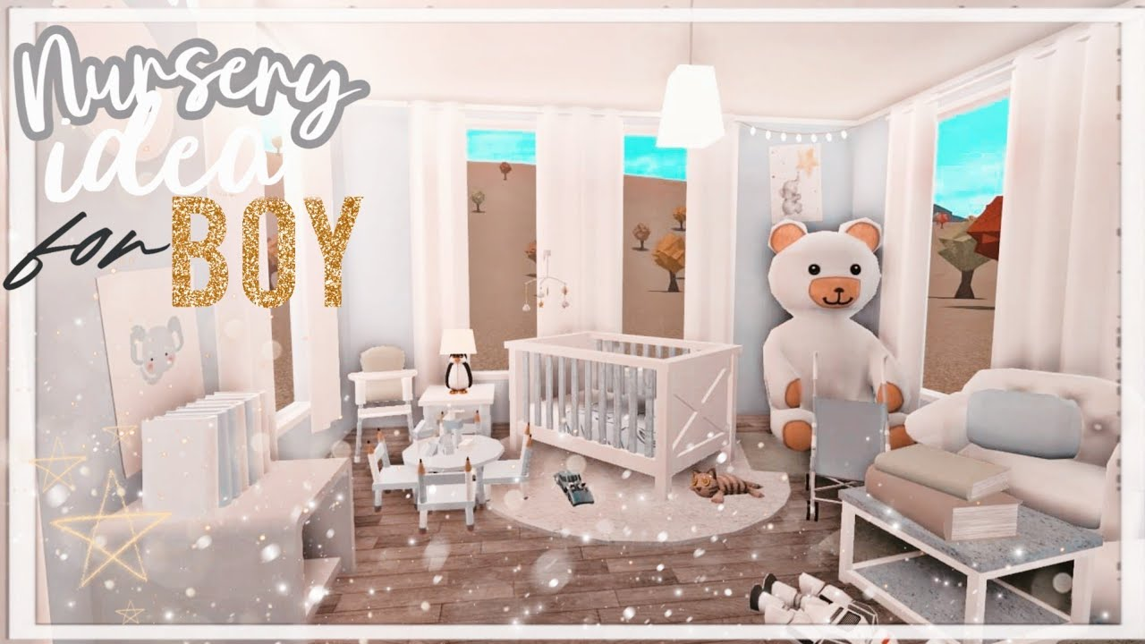 BLOXBURG: Nursery Room Idea For Baby Boy   NO GAME-PASS 9k ♡ - YouTube