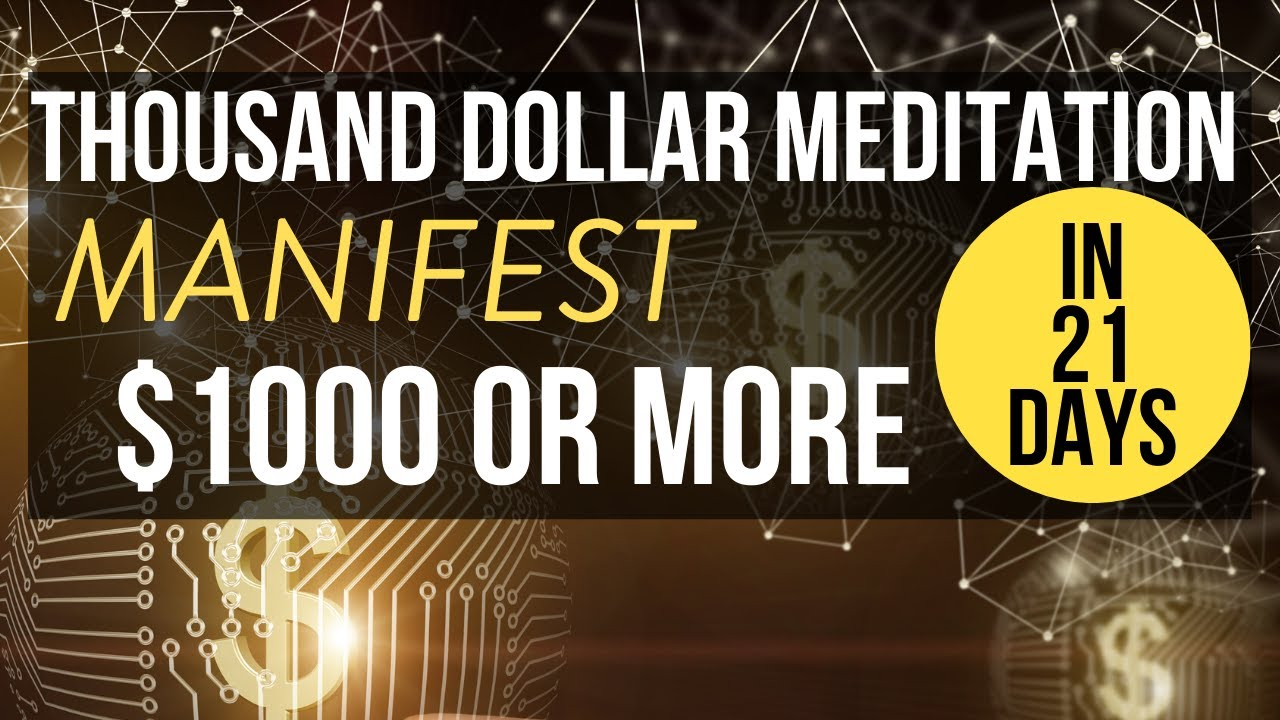 Money Meditation | Manifest $1000 or MORE in 21 Days | THIS WORKS!