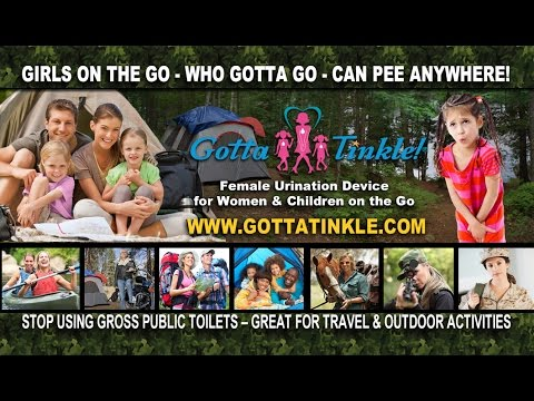GottaTinkle! Female Urination Device (Woman & Children Can Pee Standing-Up)