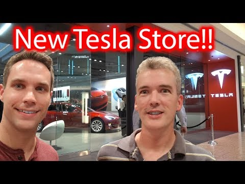 New Tesla Store! Special Guest!