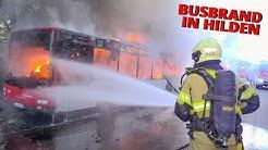[LINIENBUS IN VOLLBRAND] - Starke Rauchentwicklung & Flammen | Schaumangriff | Feuerwehr Hilden -