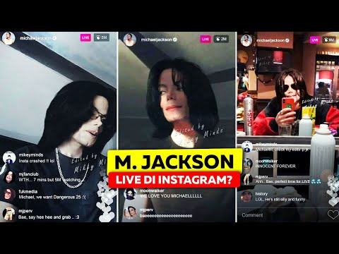 Ternyata Selama Ini Michael Jackson Masih Hidup Dan Sempet Tidak Sengaja Live Instagram?!