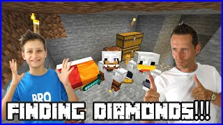 Finding Diamonds and Building Cave House with Ronald