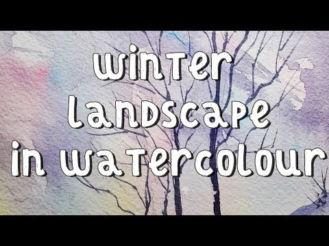 Painting A Winter Landscape In Watercolour