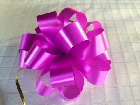 How To Make A Puff Bow - A Tutorial On How To Make A Bow For Flower Bouquets