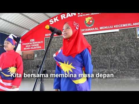 Nyanyian lagu Aku Negaraku Murid SK Rantau Panjang, Klang