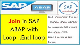 Abap Last Row In Loop