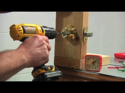 Lock Strength Test - Drill Out Kwikset Deadbolt Lock (BHMA Grade 3) - Time: 1 Min 33 Secs