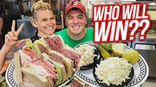 Massive 5Meat Deli Sandwich Challenge w/ Molly Schuyler!!